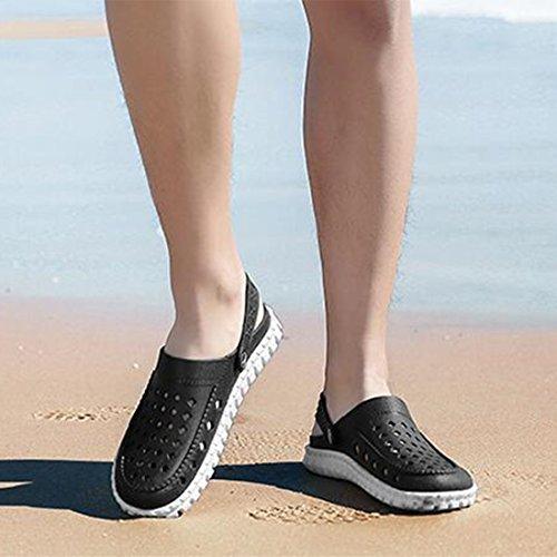 Uomo Slippers Outdoor Black Shoes ZHONGST Sandali Estivi Cave Casual Beach da tSSTZwq