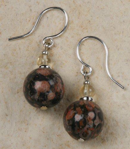 Earrings - Leopard Skin Jasper Beads - Leopard Jasper Earrings
