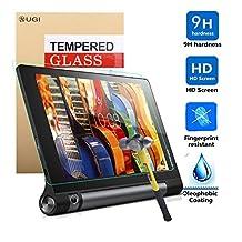 Lenovo YOGA Tab 3 8 screen protector, KuGi ® Ultra-thin 9H Hardness High Quality HD clear Premium Tempered Glass Screen Protector for Lenovo YOGA Tab 3 8 inch tablet (1 pcs)