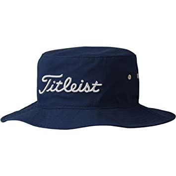 05a93926ee8 Titleist Seersucker Bucket Golf Hat 2017 Navy Dove Small Medium ...