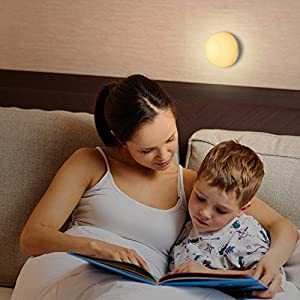 AUKEY Night Light, Rechargeable Bedside Lamp with RGB Color-Changing & Dimmable Bedroom Light, IP65 Water-Resistance & Drop-Resistance, Touch Control Table Lamp for Reading, Sleeping, and Relaxing