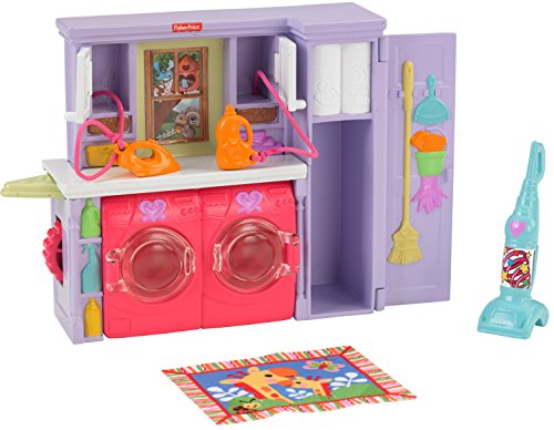 Fisher-Price Loving Family Laundry Room Playset (Washing Bathroom Rugs In Front Load Washer)
