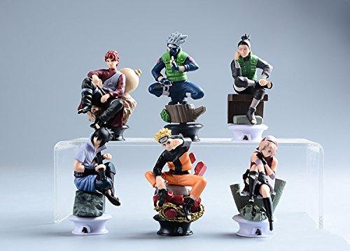 6 Pcs/set Naruto Action Figure Anime Pvc 9cm Cool Uzumaki Hinata Madara Kakashi Figure Classic Toys for Kids or Collection WS156