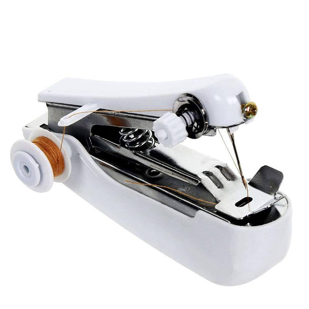 Home Garden Accessories Threader Included Hemore Mini Sewing Machine Portable Handheld Sewing Machine Quick Stitch Tool for Home Travel Random Color