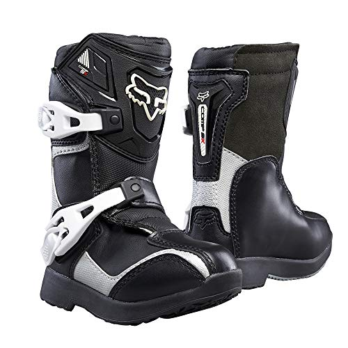 (2018 Fox Racing Kids Comp 5K Boots-Black/Silver-K10)