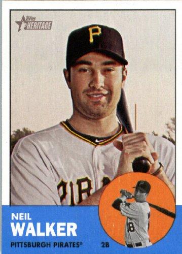 2012 Topps Heritage Baseball Card #259 Neil Walker - Pittsburgh Pirates