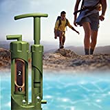 Camping Water Filter, SQdeal Mini Portable Soldier Outdoor Camping Hiking Backpacking Climbing Military Sos Survival Emergency Water Filter Purifier Purification Pump Filter