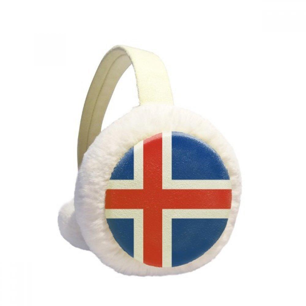 Iceland National Flag Europe Country Pattern Winter Earmuffs Ear Warmers Faux Fur Foldable Plush Outdoor Gift DIYlab sku00873249b873158f659