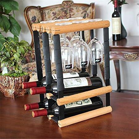 Shocly 4 Botellas EstanteríA De Vino Botellero para Estante Botellas Agua O Refrescos Escaparate Estante Tinto DecoracióN Moda Creativo