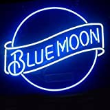 Blue Moon Beer Neon Signs Real Glass For Home Beer Bar Pub Decor 19x15