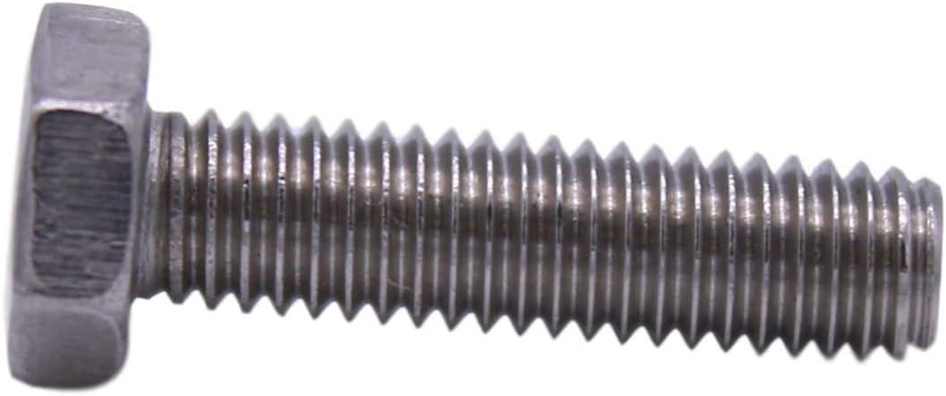 100 Count 18-8 Stainless Steel U-Turn Full Thread 10-32 x 3//4 Hex Head Cap Screw Bolts