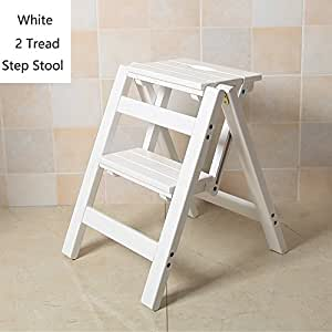 Amazon Com Yxsd Ladder Stool Wooden Folding Stepladder