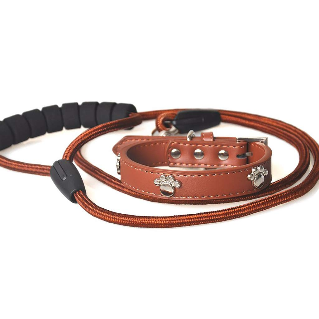 B 4555cm2.5cm 125cmTraction rope collars Pet leash Dog chain Walking the dog rope Cortex soft solid durable Traction rope Collars Suit (color   B, Size   4555cm2.5cm 125cm)