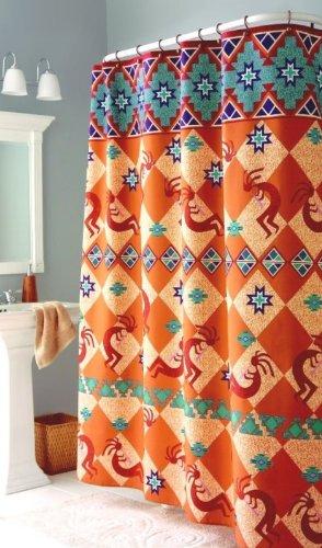 Kokopelli Southwest Indian Bath Fabric Shower Curtain Amazoncouk