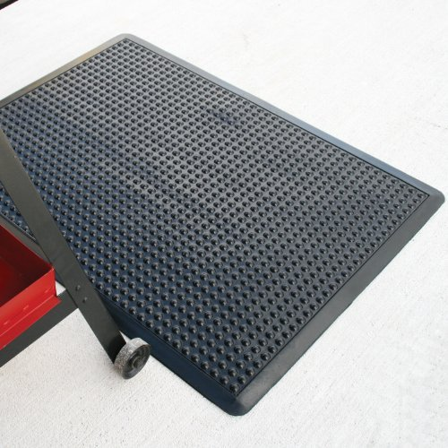 Rhino Mats UD2436S Ultra-Dome Workstation Anti-Fatigue Welding Mat, 2' Width x 3' Length x 3/4'' Thickness, Black