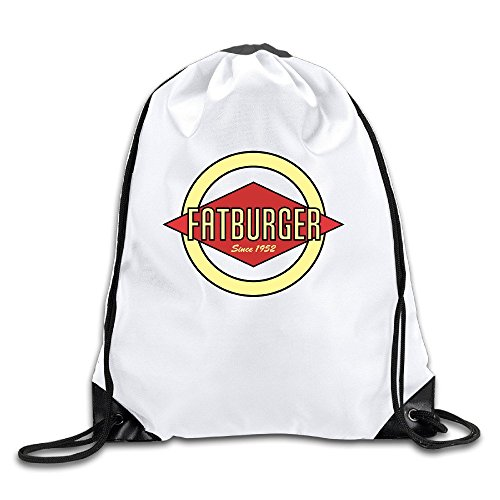 Fatburger Lightweight Drawstring Bags Backpack White Size One Size