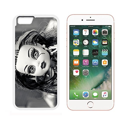 Case for iPhone 6 Plus,Doll Gothic Horror Face Halloween Weird Scary (White) iPhone 6/6S Plus case(5.5 inch)