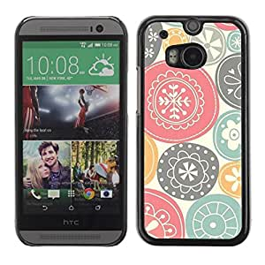 Be Good Phone Accessory // Dura Cáscara cubierta Protectora Caso Carcasa Funda de Protección para HTC One M8 // Nature Symbols Art Traditional Positive
