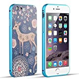 iPhone 5 Case, iPhone 5S Case, ACO-UINT 3D Relief Painted PC Back Cover + Metal Aluminum Bumper Case for iPhone 5 5S, 2 Screen Protector/ACO-UINT Microfiber Cleaning Cloth Included (Armor Case 1)