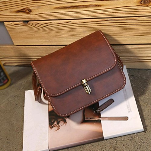 Retro Crossbody Weekend Shoulder Holiday Leather Messenger Tote Girls Satchel for Lady Women Small BURFLY Shoulder Bags Bags Girls Coffee Handbag Party Women AwzXqX