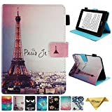 Folio Case for Kindle Paperwhite 2018, JZCreater PU Leather Smart Case Cover with Auto Wake/Sleep for New Amazon Kindle Paperwhite 10th Generation E-Reader 2018, Paris Tower