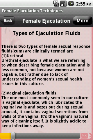 Female ejeclation