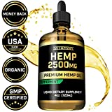 Hemp Oil for Pain Anxiety Relief :: 2500mg :: May Help with Stress, Pain, Anxiety, Sleep, Depression, Headaches + More :: Healthy for Hair, Skin, Nails :: Zero THC CBD Cannabidoil :: Peppermint Flavor