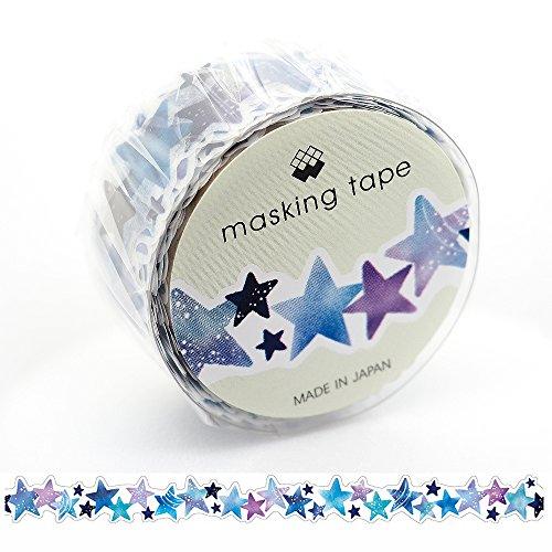 Mind Wave Japanese Washi Masking Paper Die-Cut Tape / Comic Stars [ 92744 ]