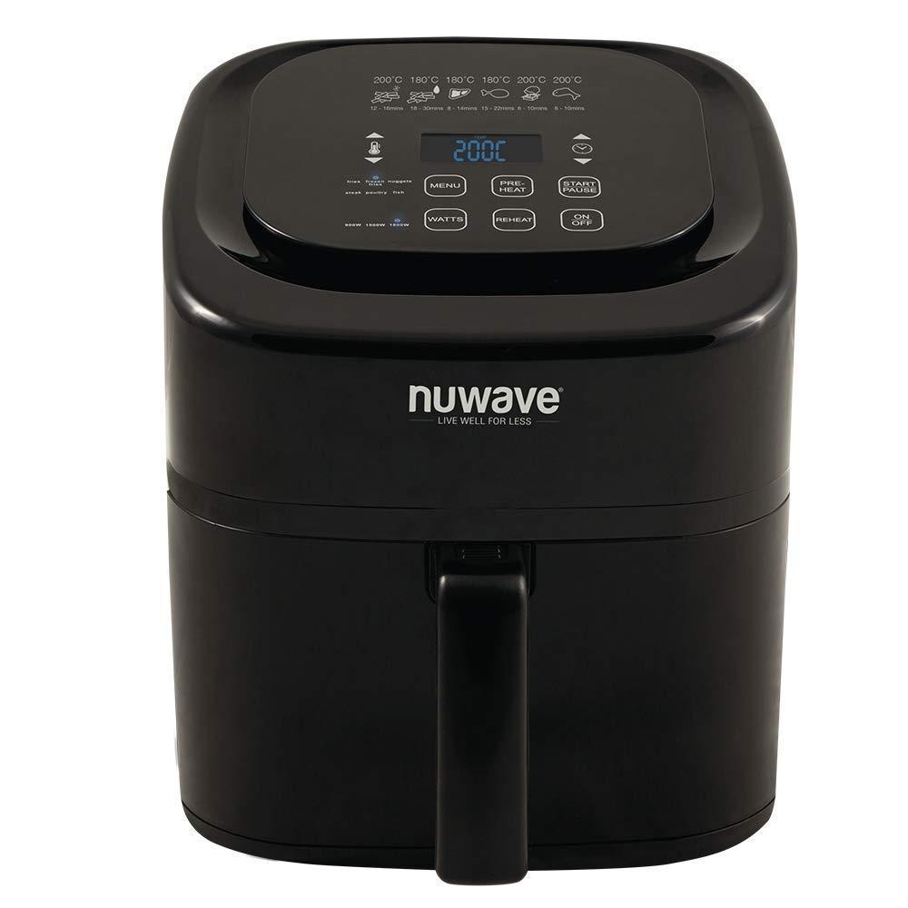 NuWave 37082 Cocina Saludable Sin Aceite con Tecnología de Flujo de Aire, Controles Y Temporizadores Digitales, Negro: Amazon.es: Hogar