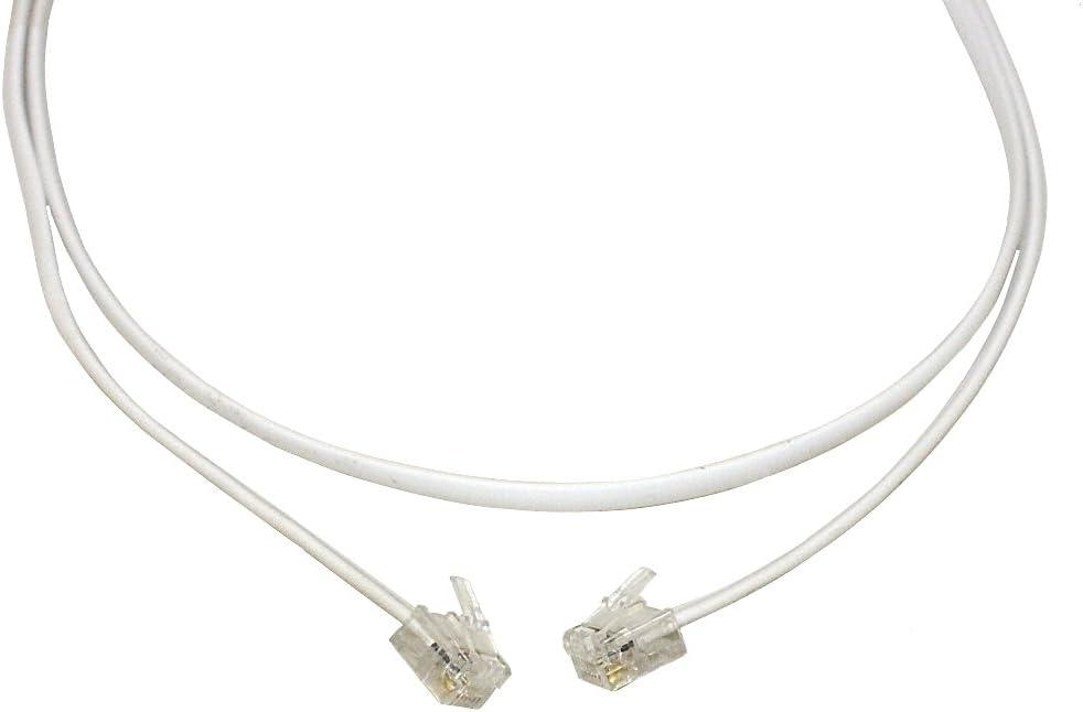 C/âble cordon RJ11 6P4P pour t/él/éphone Internet ADSL modem 15 m/ètres 15m AERZETIX