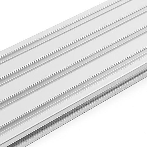 ChaRLes 200//300//400Mm Longitud 2080 T-Slot Perfiles De Aluminio Extrusi/ón Marco Para Cnc 200mm