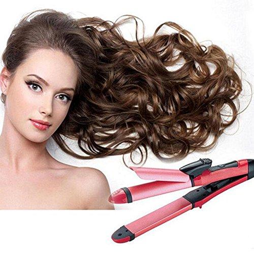 Shuangklei 2 In 1 Hair Curler Tourmaline Ceramic Curling Iron Styling Tools ()