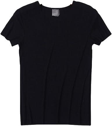 Dexinx Camisa Hombres Normales de Peso Ligero Tapas Cortas del Verano Casual con Estilo del Color Sólido de la Blusa Negro XL: Amazon.es: Ropa y accesorios