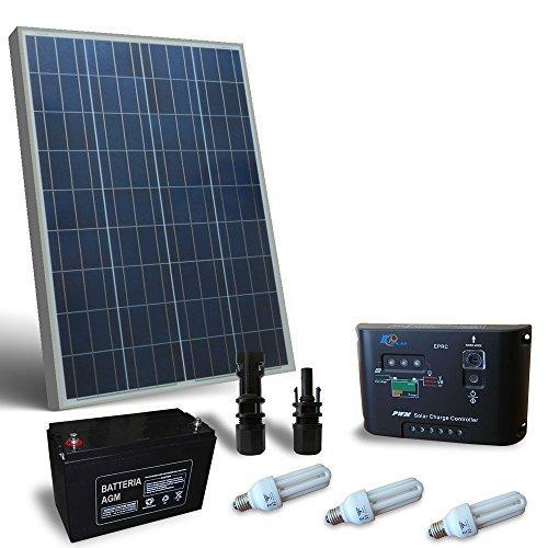 Kit solar Beleuchtung Fluo puntoenergia 80W 12V für Innen Photovoltaik