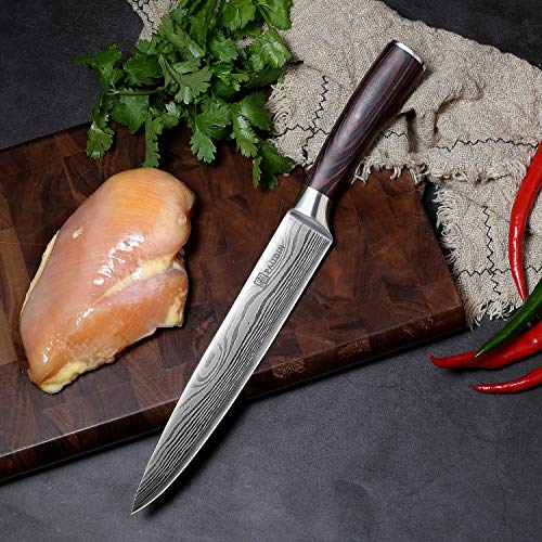 Slicing Carving Knife - PAUDIN 8 inch Chef Knife Kitchen Knife with High Carbon Stainless Steel, Ergonomic Handle with Gifted Box by PAUDIN (Image #8)