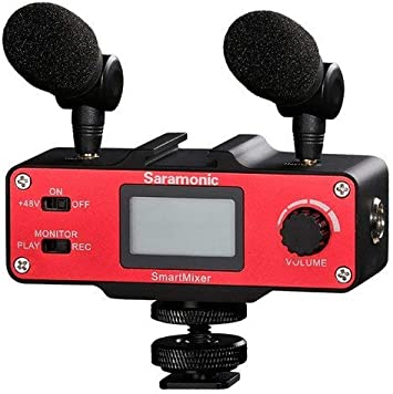 Saramonic SmartMixer Professional Recording Stereo Microphone Rig for iPhone & Android Smartphones, Lime: Amazon.es: Electrónica