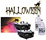 (2) Halloween Mister Kool Low Laying Fog Smoke Machine with (2) Gallon Fluid New
