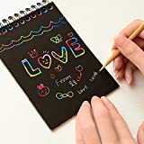 10 Sheets Funny Magic Scratch Art Painting Paper With Drawing Stick Kids Toy 16K