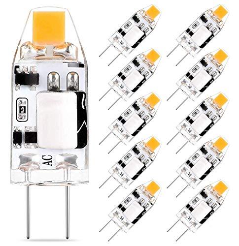G4 LED Lampen 1.5W 150LM, Vervangt 10W 15W Halogeen Lamp, Warm Wit 2700K 12V AC/DC G4 LED Lampen, Niet Dimbaar G4 Pin…
