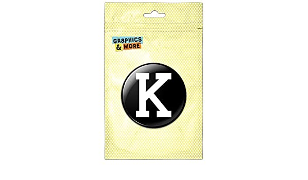 Letter K Initial Black White Kitchen Refrigerator Locker Button Magnet