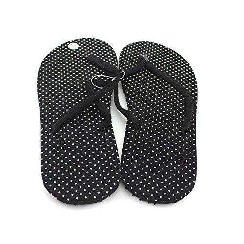 Minetom Slim Flip Flops Sandalen Damen Zehentrenner Modell Strand Sommer Pantoffel EU Größe Punkt