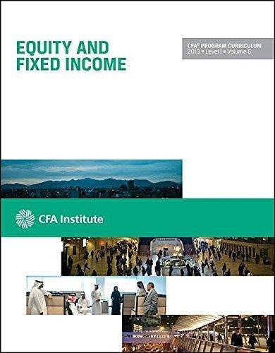 CFA Program Curriculum, Level I by CFA Institute (2013-05-04)