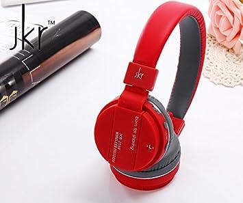 Auriculares Bluetooth Inalámbricos, rojo pasión plegable cancelación de ruido HI-FI stereo-comfortable