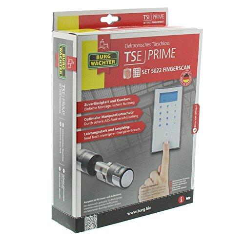 BURG-WÄCHTER (55470), Elektronisches Wireless-Türschloss mit Fingerscan und Pincode, TSE Prime Set 5022