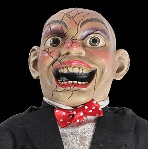 Funny Comedian CREEPY CHARLIE DOLL Haunted House Dummy Horror Movie (Ventriloquist Dummy Makeup Costume)