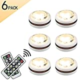 LEASTYLE Wireless LED Puck Lights with Remote Control 6 pack