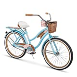 Huffy Womens Beach Cruiser Bike, Panama Jack 24-26 inch Single Speed, Lightweight