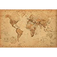 Mapa del mundo (antiguo) Arte 24x36 Póster