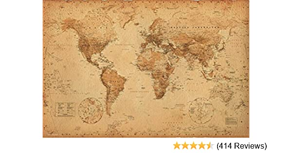 World Map (Antique) Art 24x36 Poster on distressed usa map, apple usa map, desert usa map, white usa map, colorless usa map, hand drawn usa map, color usa map, navy usa map, camouflage usa map, sapphire usa map, wooden usa map, phoenix usa map, whatever usa map, oceans usa map, black usa map, framed usa map, rainbow usa map, rust usa map, burgundy usa map, small usa map,