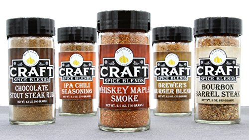 Craft Spice Blends 5 Pack - Seasonings and Spice Rub Gift Set - Grilling and Barbecue Gifts